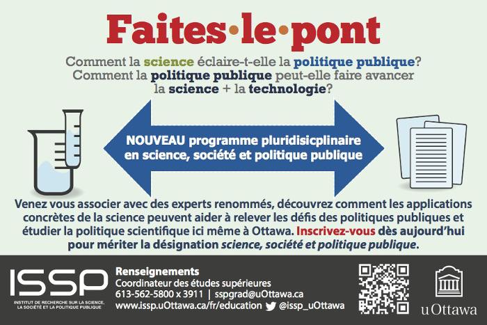 """On """"faites le pont"""" entre la science et les politiques publiques"""